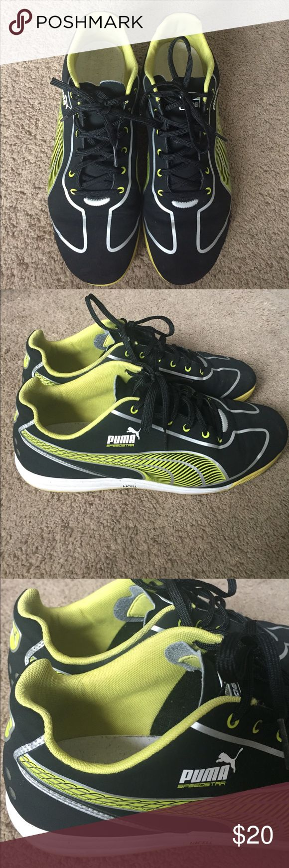PUMA Speedstar sneakers size US Men 9 Excellent condition PUMA sneakers for men.  Only worn to school a handful of times.  Size US Mens 9. No holes or rips or tears.  Yello on black with white soles. Puma Shoes Sneakers