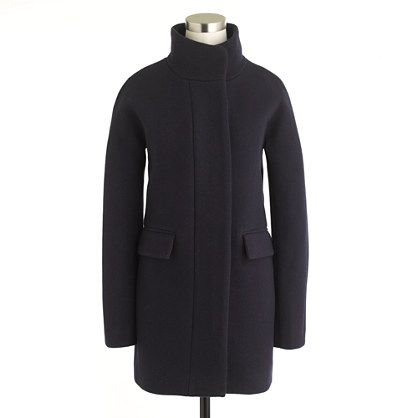 Stadium-cloth cocoon coat - wool & puffer jackets - Women's outerwear - J.Crew