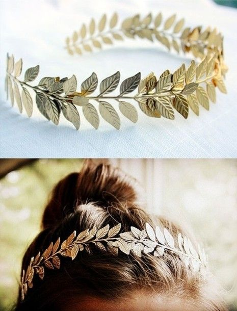 jewels, hairband, leaves, gold, hair accessory, bohemian, cute, accessory - Wheretoget