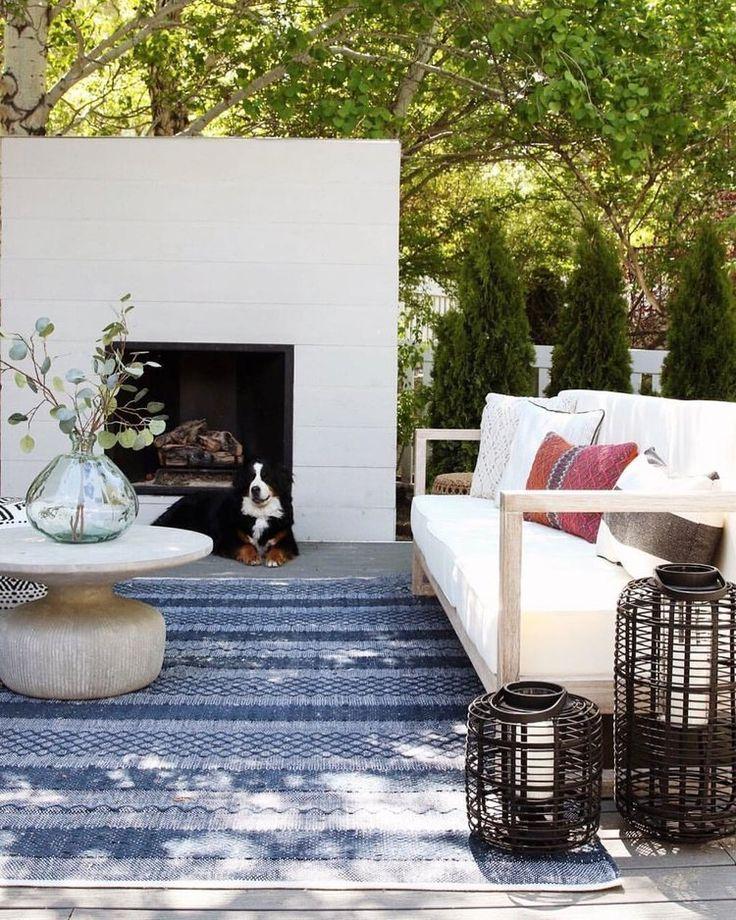 Estate HandWoven Blue Indoor/Outdoor Area Rug & Reviews
