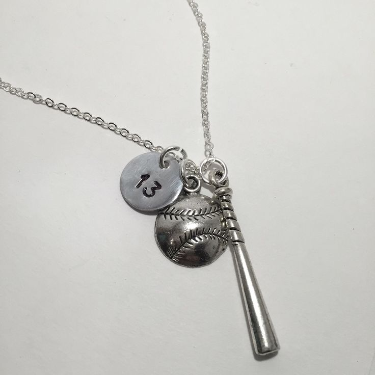 Personalized baseball necklace on the way to its new home!