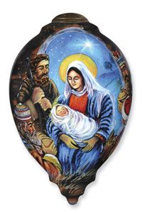 Holy Night Reverse Hand-Painted Glass Ornament $59.00 http://www.celebrateyourfaith.com/Holy-Night-Reverse-Hand-Painte-P13858C569.cfm