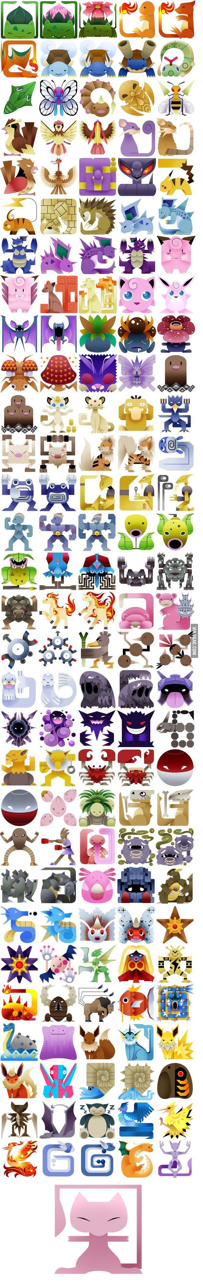 151 Pokémon as Monster Icon