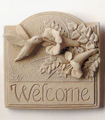 Hummingbird Welcome Plaque -- Carruth Studio: Waterville, OH