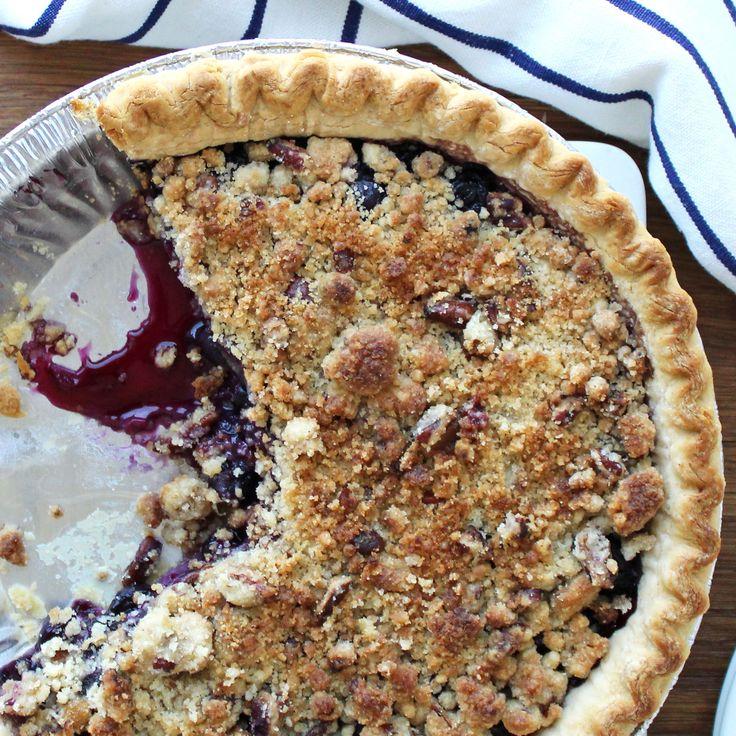 Blueberry Pecan Streusel Pie   Dessert   Recipes   Dole Packaged Foods