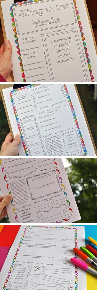 50 Free Printable Journaling Pages! These are a must.