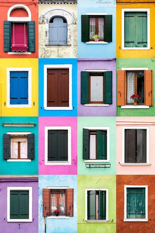 Windows around the world: Burano II, Itália  (Foto: André Vicente Gonçalves / divu)