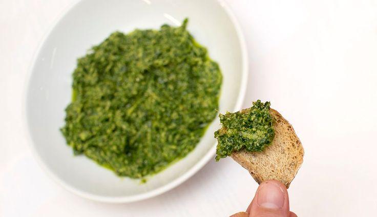 vegansk grønnkålpesto oppskrift
