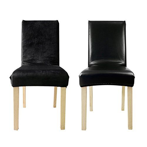 10 Pack 2 Sided Faux Leather Chair Covers Slipcovers Wholesale For Banquet Dining