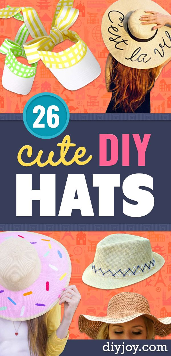 26 DIY Hats Guaranteed to Complete Your Outfit