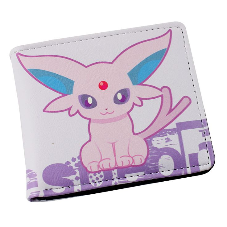 Japan anime Pokemon pikachu Espeon wallet Anime Cosplay men women Bifold Purse