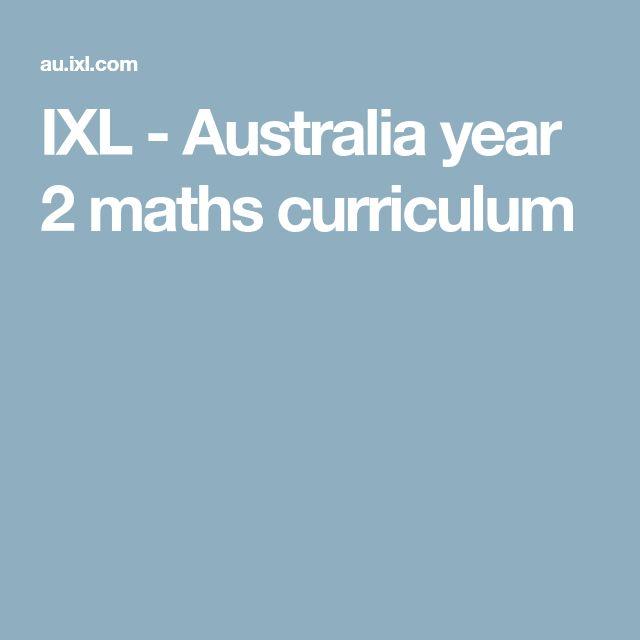 IXL - Australia year 2 maths curriculum
