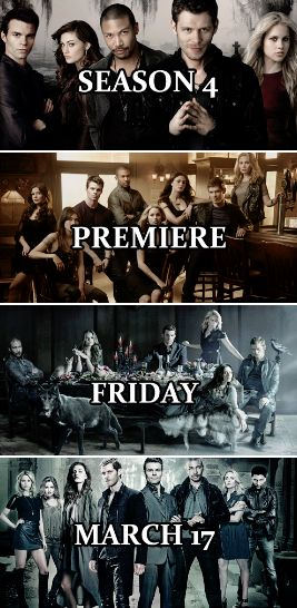 The Originals Season 4 will premiere on Friday, March 17th