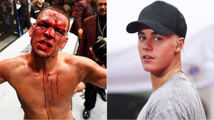 UFC's Nate Diaz to Justin Bieber: 'Shut Your Bitch Ass Up' #headphones #music #headphones