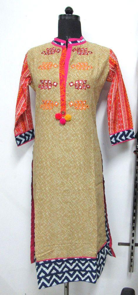 designer Indian Kurti top tunic S  Pakistani kurta embroidered dress #Nisha #Indiankurti