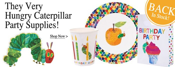 The Very Hungry Caterpillar party supplies! Decorations, ideas and more! Via Kara's Party Shop KarasPartyIdeas.com/shop