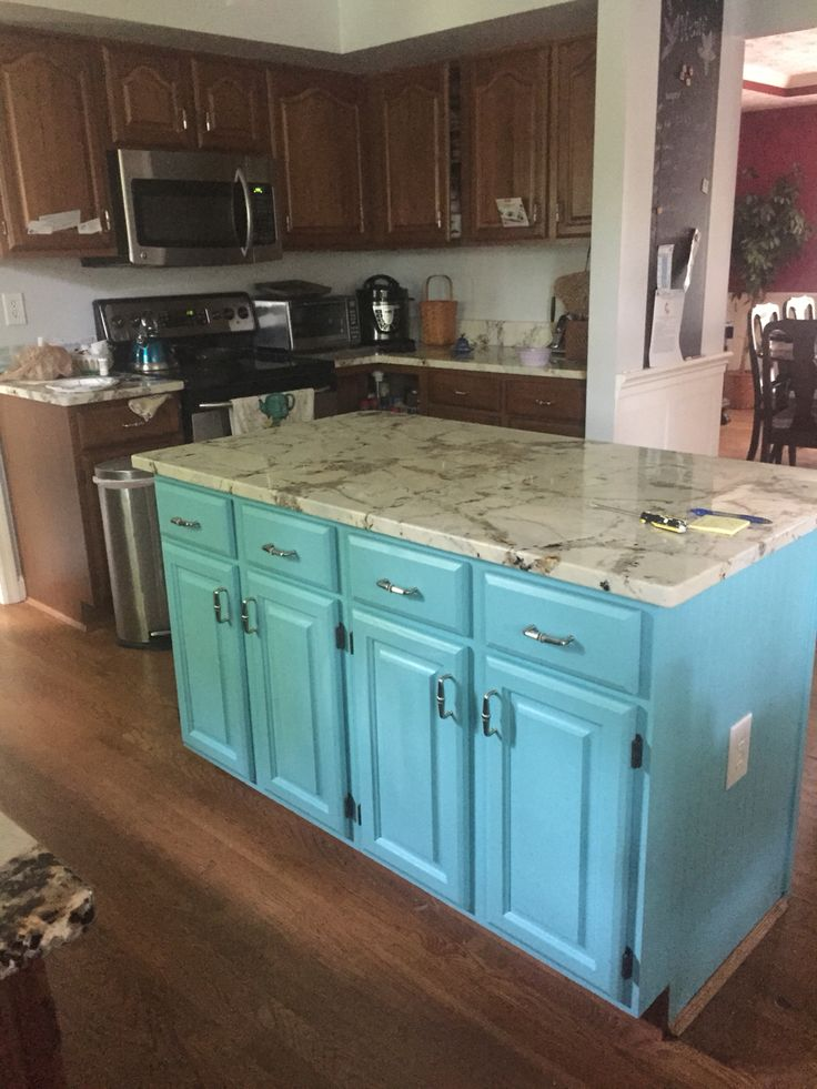 turquoise kitchen island 60 best paint i done images on shed guest 2969
