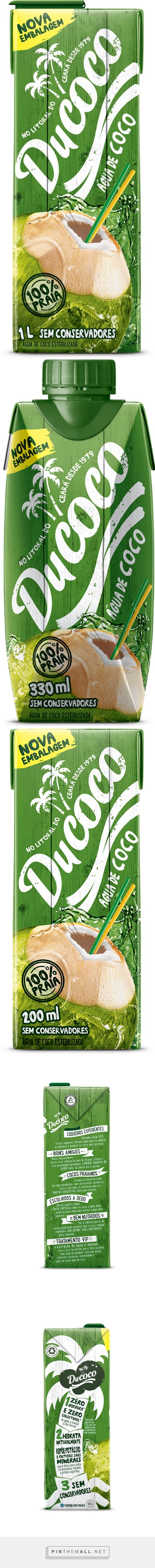 Ducoco renova embalagens de água de coco via EmbalagemMarca curated by Packaging Diva PD. Yummy coconut water packaging.