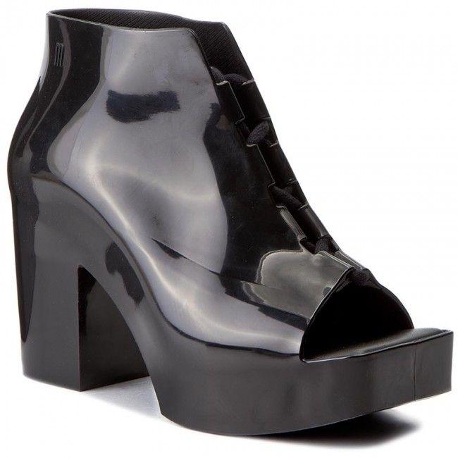Botki Melissa Wonder Ad 32231 Black 01003 Black Peep Toe Heels