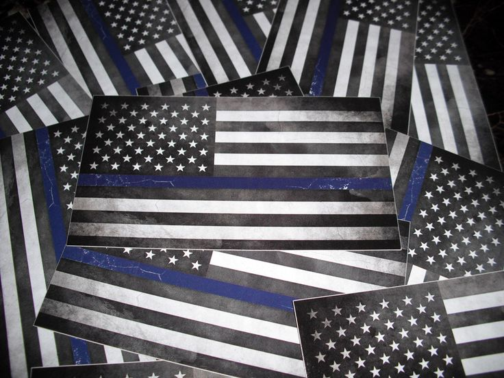 Thin Blue Line Sticker - Blue Vintage American Flag - Back the Blue POLICE Bumper Decal by StickerBoutiqueStore on Etsy https://www.etsy.com/listing/476963991/thin-blue-line-sticker-blue-vintage
