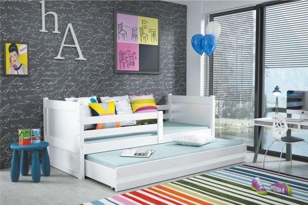 Funktionsbett Oscar - Massivholz lackiert - Weiß - mit Bettkasten