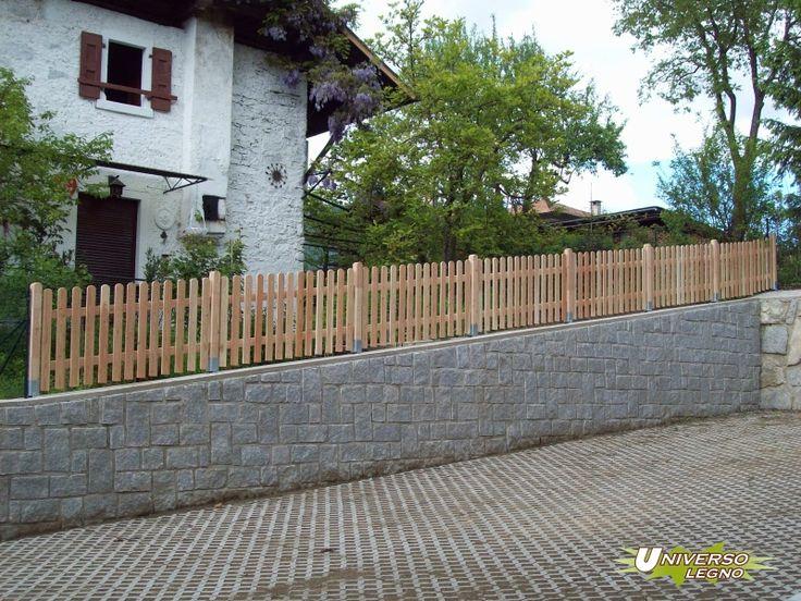 Great staccionate recinzioni staccionata in larice con - Recinzioni giardini privati ...