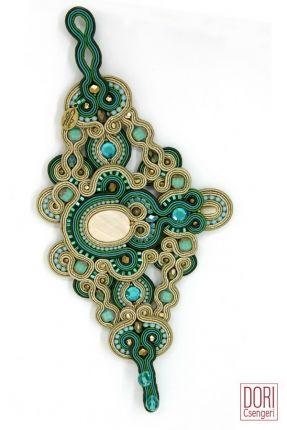 Aphrodite Statement Bracelet. #doricsengeri #statement #bracelet #aphrodite #couture #gold&turquoise