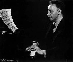 The late Artur Rubinstein, whose Romanticism and sheer joie de vivre set him apart from the other giants of the keyboard.  He knew the secret Horowitz never mastered - that playing music is like making love. I bought all his records and stood in line for hours when he came to Providence in 1972, to be sure to snag a seat onstage right next to the pianist.  A never-forgotten afternoon.