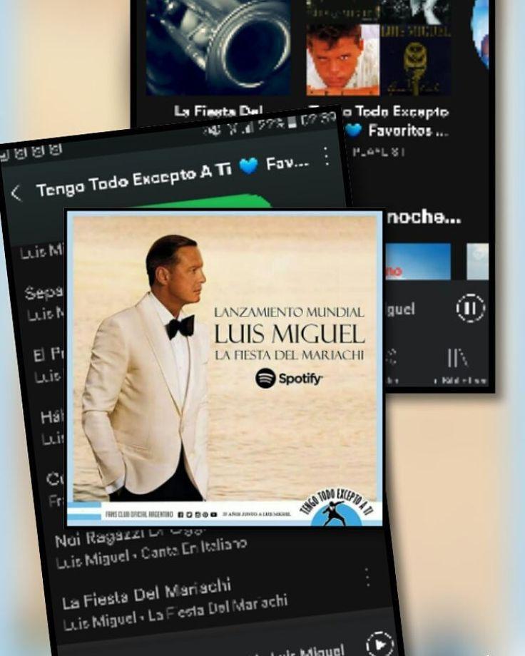"""Luis Miguel vuelve con La Fiesta del Mariachi para deleitarnos con su potente voz.   Escuchala en nuestra Play List en  Spotify """"tengo todo excepto a ti favoritos del club"""" Tengo Todo Excepto A Ti, Fan club oficial Argentino desde 1990"""