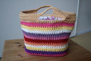 All-Purpose Striped Basket | AllFreeCrochet.com