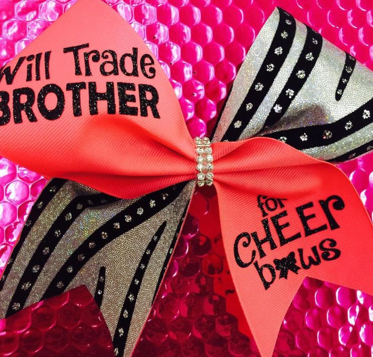Will trade Brother: Rhinestone Cheer Bows, Sequin, Glitter, Monogram & Custom Cheer Bows