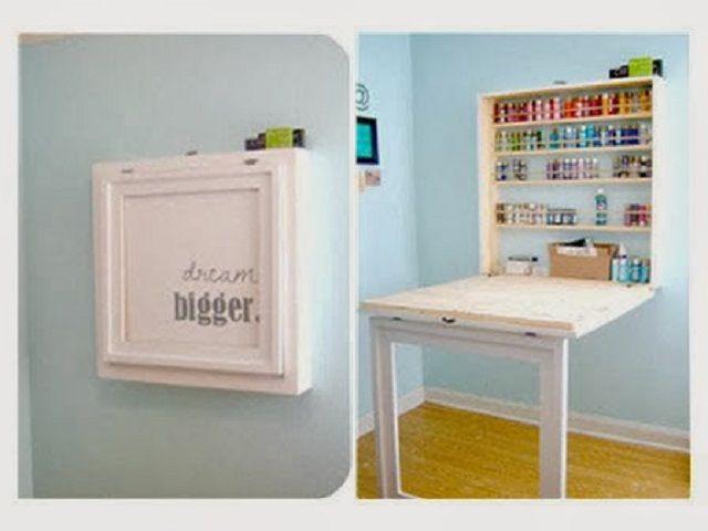 33 best love me small studio living images on pinterest for Fold down desk table