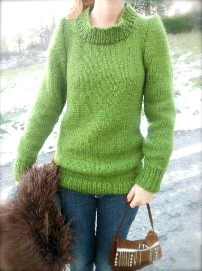 Lavori a maglia dolcevita - Maglia verde