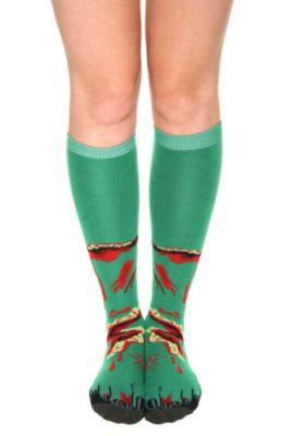 Zombie foot knee high socks