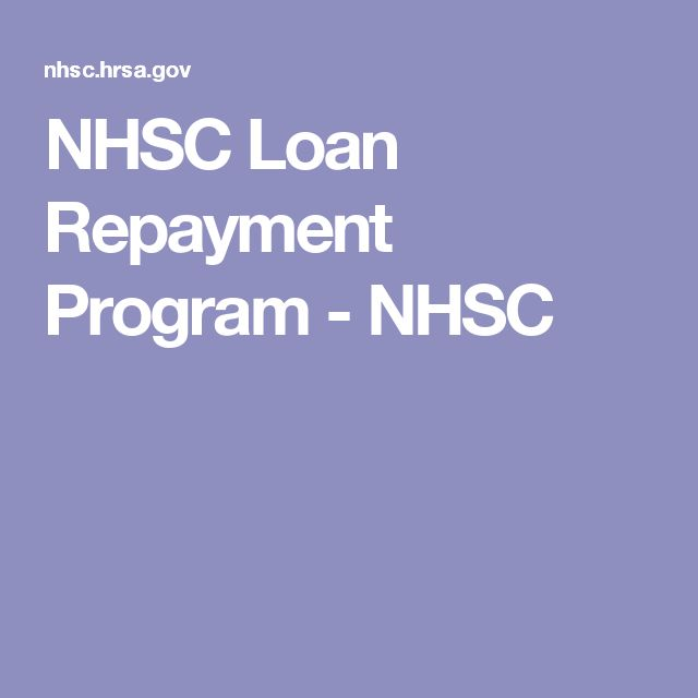 NHSC Loan Repayment Program - NHSC