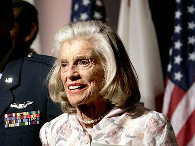 Eunice Kennedy Shriver: a wonderful American woman in her own right. Through her efforts, our country became more aware of and supportive of those with developmental disabilities..Founder of the Special Olympics.