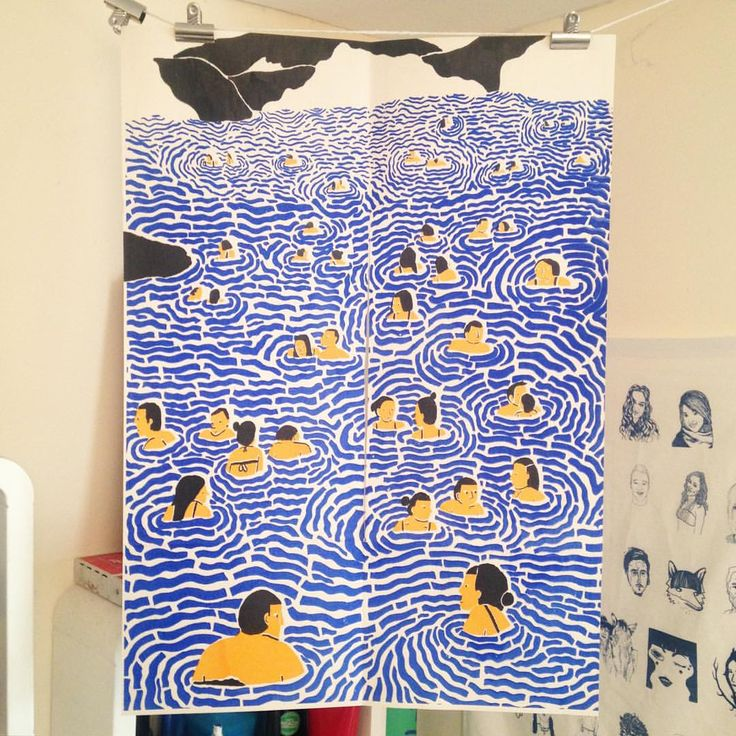 I've finally hung up my print by my pal @laurel_what #toopoorforaframe…