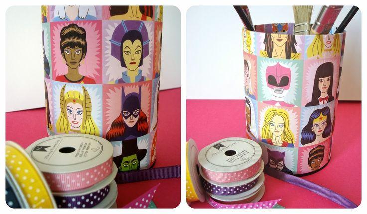 """*Tadaam !: DIY / Tuto : Pot à crayons """"héroïnes & méchantes"""""""