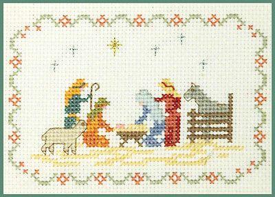 Mini-Nativity-Sampler-Xmas-Cross-Stitch-Kit-on-14-aida-good-for-beginners