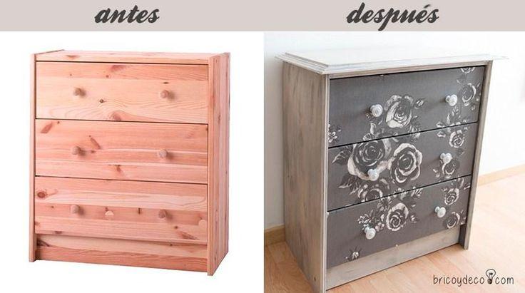 Hoy vamos a aprender a decorar un mueble con pintura y tela. El resultado es espectacular.