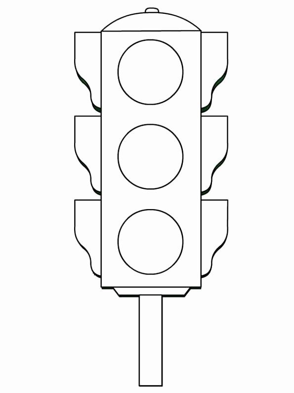 Stop Light Coloring Page Luxury Traffic Light Coloring Worksheets Kids 5 Funnycrafts Traffic Light Color Worksheets Coloring Pages
