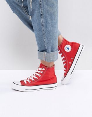 Converse Chuck Taylor High Trainers In Red in 2019  ef60cc3b0