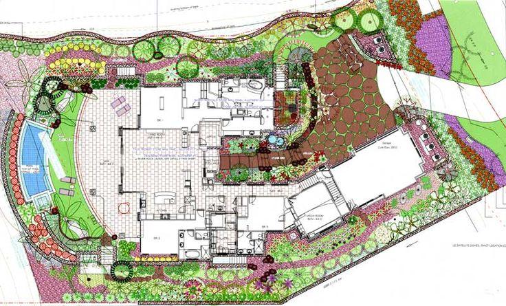 Famous garden design plans professional landsca home for Site plan with landscape