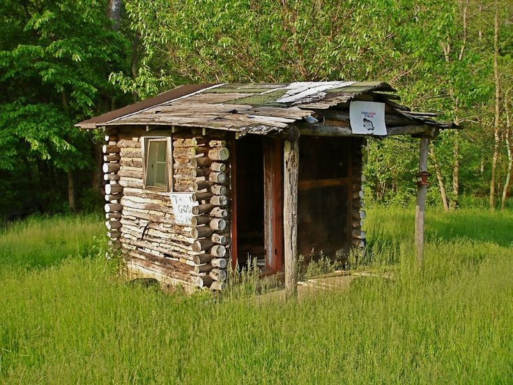 abandoned hut...just place to sleep really but all logs. Via small house swoons