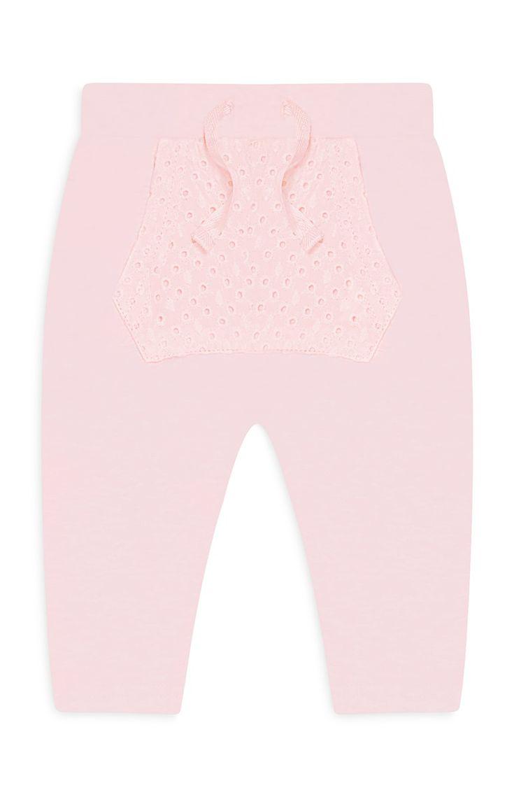 Primark - Pantalón de chándal rosa recién nacida