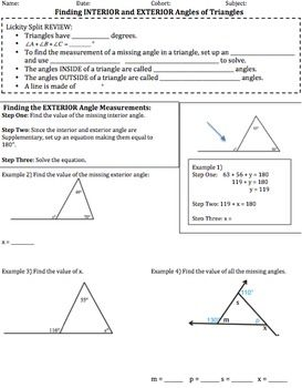 Best 25 exterior angles ideas on pinterest angle names - Measure of exterior angles of a triangle ...