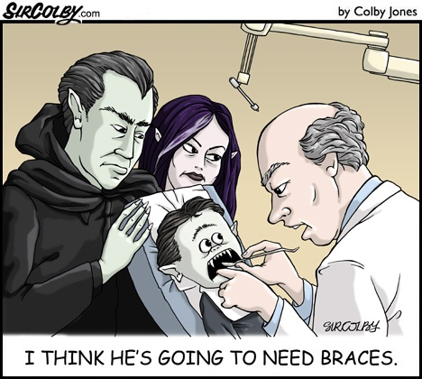 vampire braces humor from http://www.dentakit.com