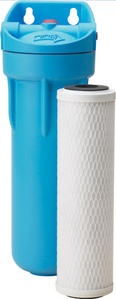 Under sink water filter: Omni CBF-3.  Well rated, but less expensive than top rated.  Has separate faucet at sink for the filtered water.