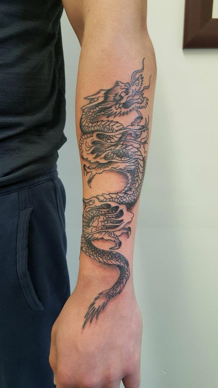 Dragon arm tattoo dragontattoo tattoo ink
