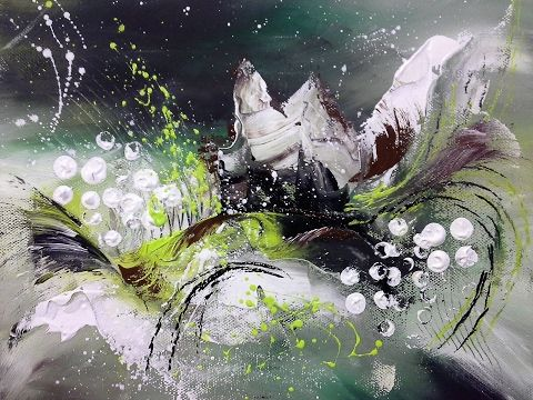 (57) Little Fantasy - Einfach Malen - Easy Painting - 10 min. Abstract - YouTube